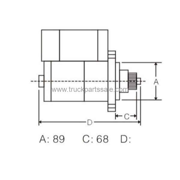OEM M009T60971 For Mitsubishi 6M70 6M60 Starter