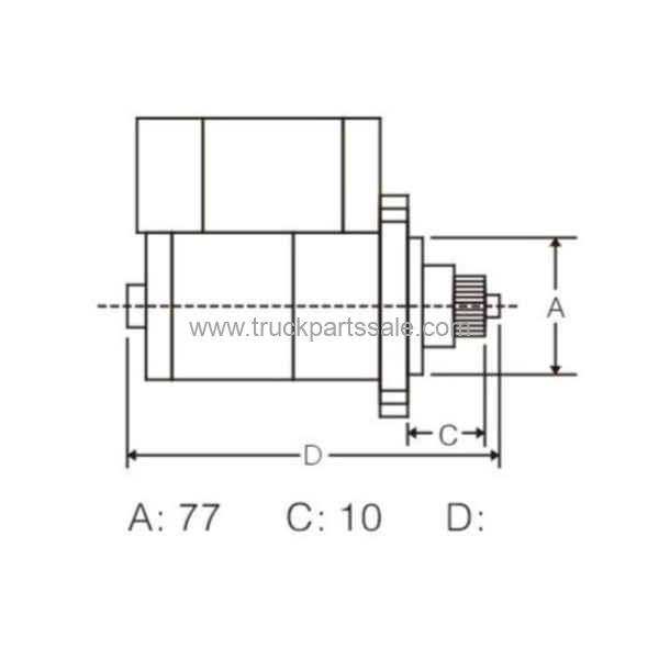 OEM M2T61171 MD164978 For Mitsubishi 4D55 4D56 Starter
